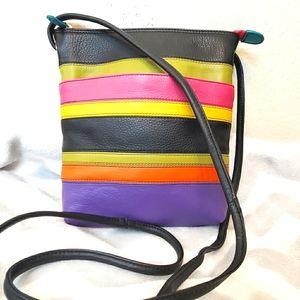 ILIA Multi-Color Leather Crossbody || NWOT